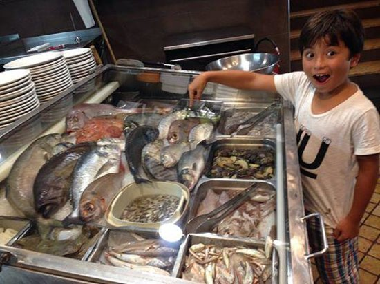 Trattoria del Cavaliere : 新鮮な魚