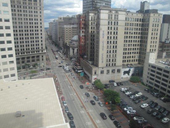 Holiday Inn Express Cleveland Downtown: Vue de notre chambre au 10e étage