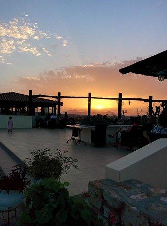 Aegean View Aqua Resort: Sunset on terrace