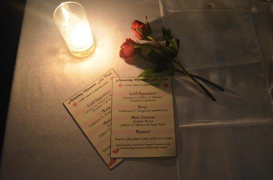 K resto: Romantic dinner menu!