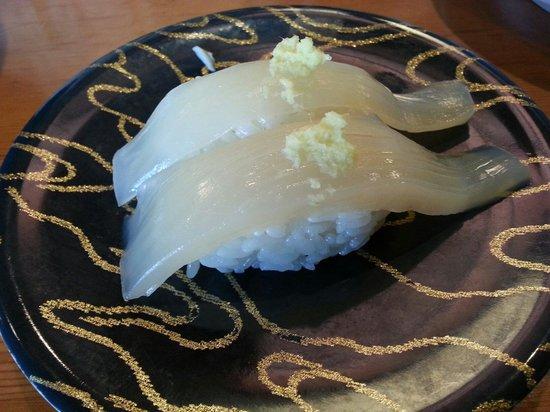Gourmet Sushi-Go-Round Kantaro, Goryokaku Park: イカ