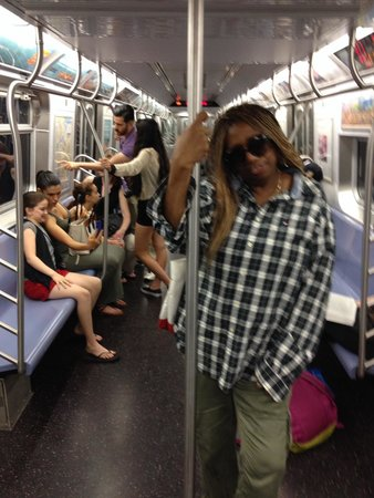 Harlem: Riding the subway under BROADWAY from Canal St in Chinatown!