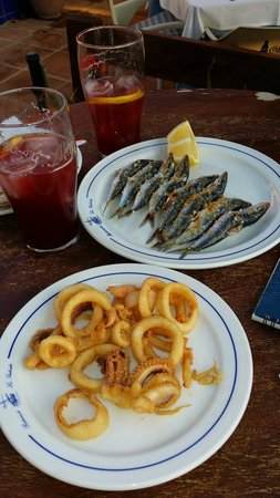 Restaurante Los Sardinales : Espetos de sardinas y calamares