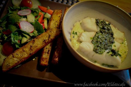 Eldsto Art Cafe and Bistro : Baked Cod in white wine sauce