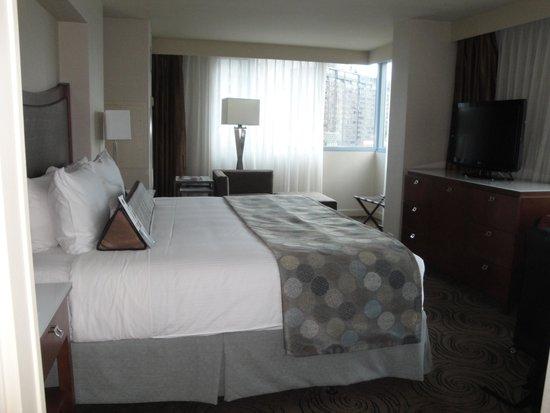 Wyndham Grand Chicago Riverfront : Chambre lit king avec vue