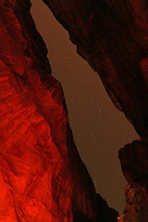 Petra By Night: Rose red city at night!