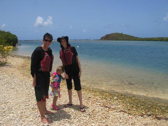 Virgin Islands Ecotours: on the beach