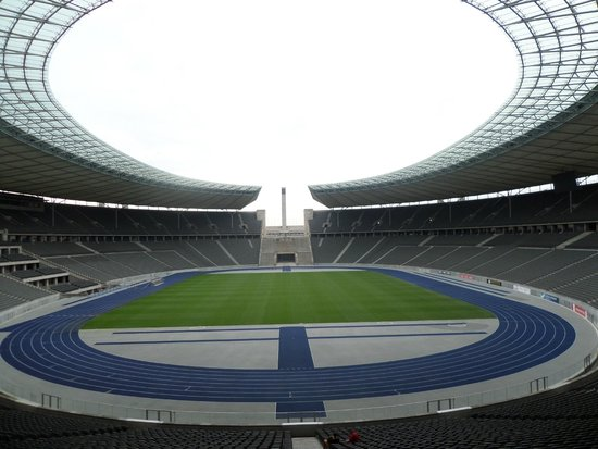 Olympiastadion: A wide view of the stadium..