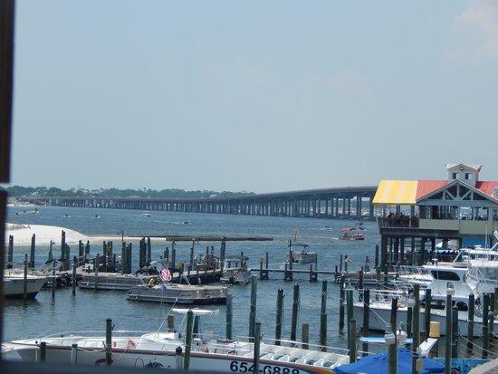 Destin Harbor: view from restaurant