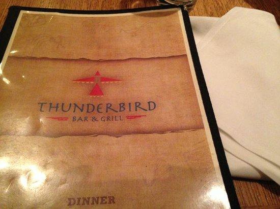 Thunderbird Bar and Grill: Menu