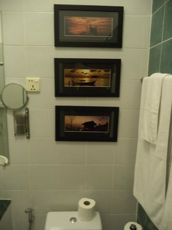The Pavilion: Pictures in the bathroom are pretty but the bathroom itself must be improved. Some parts are mol