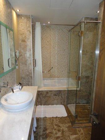 Auris Plaza Hotel: salle de bain de notre suite