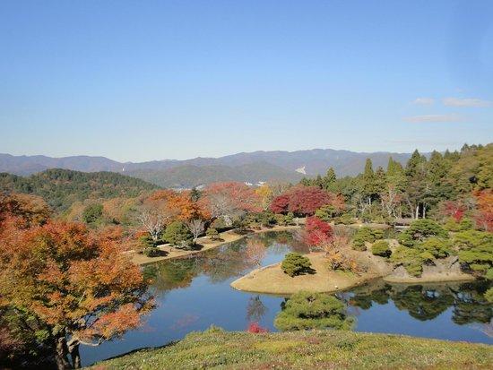 Shugakuin Imperial Villa: 隣雲亭からの眺望