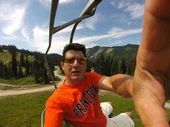 Stevens Pass Ski Area: Taking the lift in the summer