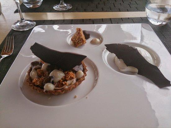 Dolcemare : dessert chataigne amandes noisettes panna cota
