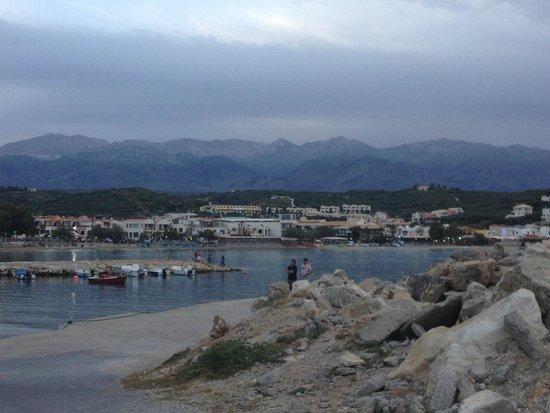 Almyrida Beach Hotel: View of Almyrida from harbour