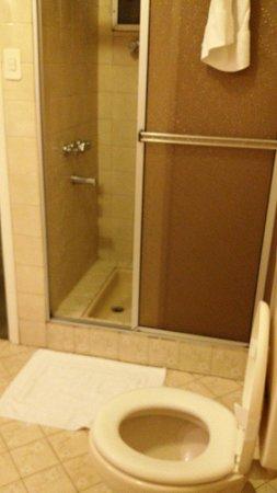 Hotel Cecilia: Banheiro do família standard