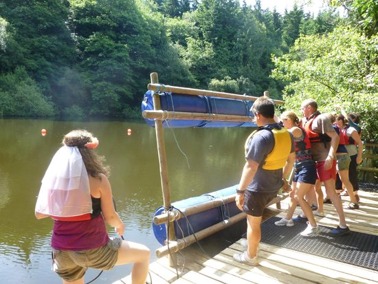 Oaker Wood Leisure: Launching the Good Raft Morris!