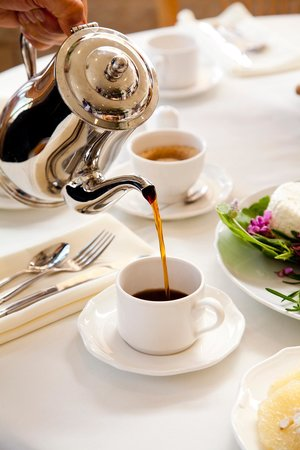 Hotel Mitzpe Hayamim: Specially blended coffee with fresh organic farm milk - the ultimate morning treat