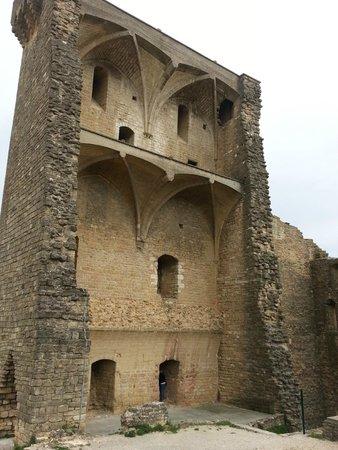 Le Verger des Papes: Ruínas do castelo.