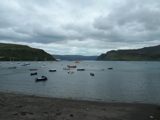 View of Portree Harbor from The Lower Deck