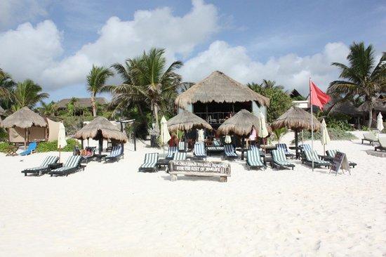 Om Tulum Hotel Cabanas and Beach Club: Beach