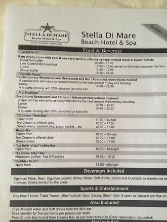 Stella Di Mare Beach Hotel & Spa: list