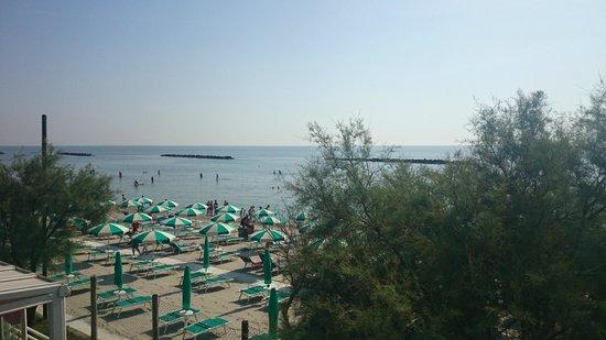 Holiday Village Florenz: Vue depuis le solarium (sur le toit du bungalow)