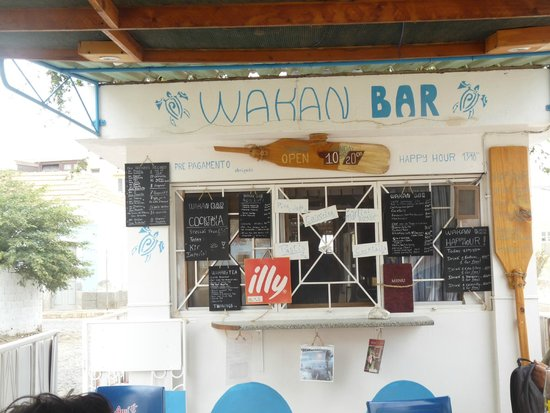 Wakan Bar: la carte