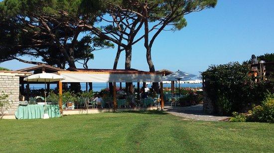 Hotel Biodola: patio della colazione