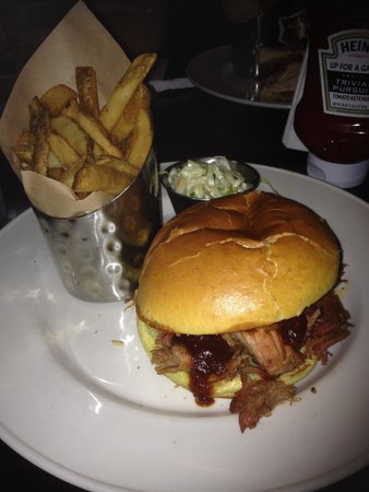 Hard Rock Cafe: BBQ Pulled Pork Sandwich with Sides