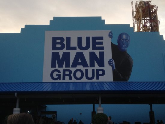 Blue Man Group: Outside of the theater