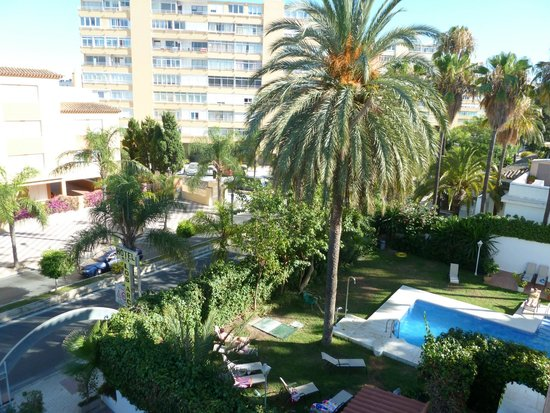 Arcos de Montemar: View from a room at the front of hotel