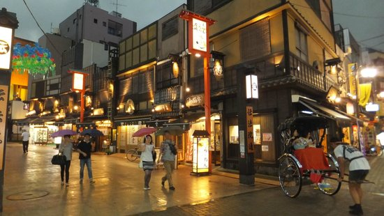 Asakusa street at night