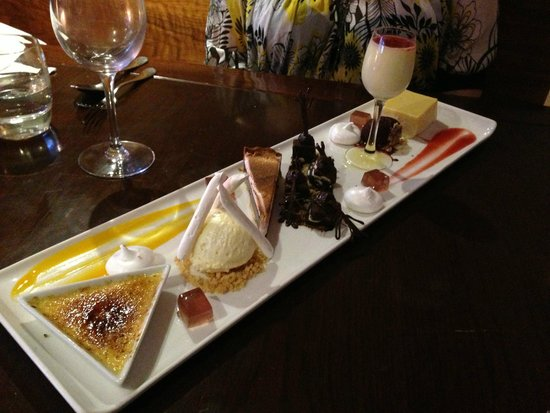 The Crab at Bournemouth : Assiette of desserts - fantastic!
