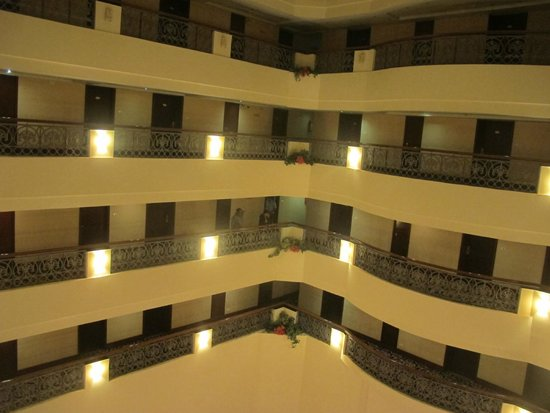 Hotel Krishna Palace: View from the floor