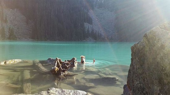 Joffre Lakes Provincial Park : Reginald in the middle lake