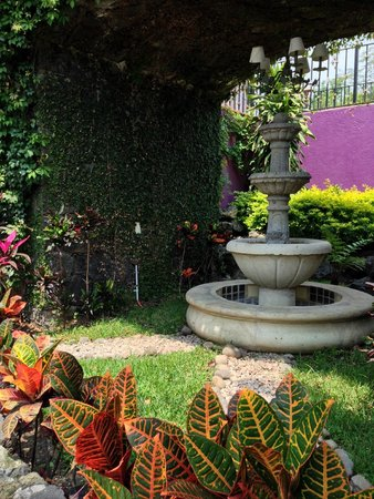 Casa Isabella Hotel Boutique: 009 - Lovely fountain going to lunch - Casa Isabella - 19Jul14