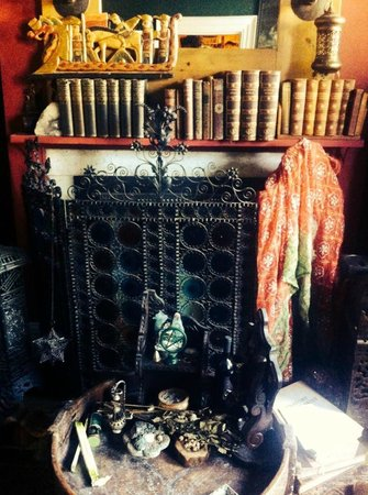 The Covenstead Glastonbury: Temple Fireplace