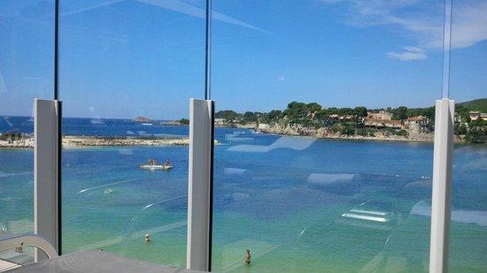 Hôtel Ile Rousse Thalazur Bandol : Vue de la piscine
