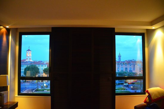 Hotel Aston La Scala: view form room 524 with the shutters and blinds open