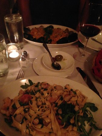 Basso56 : Seafood Risotto and Seafood Fettuccine
