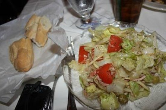 Columbia Restaurant: Freshly Baked Cuban Bread and 1905 Salad