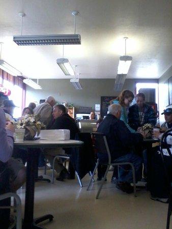 Inside Woodside Bakery from waiting area