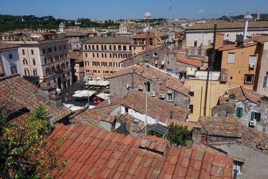 Boutique Hotel Campo de Fiori: view from roof deck toward St. Peter's