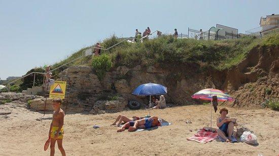 Selena Beach Hotel: Береговая линия пляжа