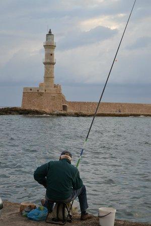 Old Venetian Harbor : Вид на маяк