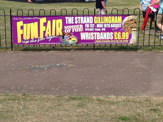 The Strand Leisure Park: Usually the school summer holidays there will be a fair and load music. The fair sits on the fie