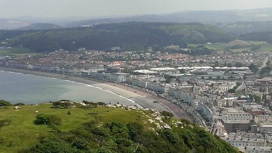 Great Orme: Llandudno beach and town from cable car