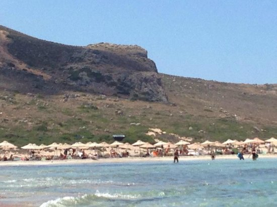Balos Beach and Lagoon : Légions de transats